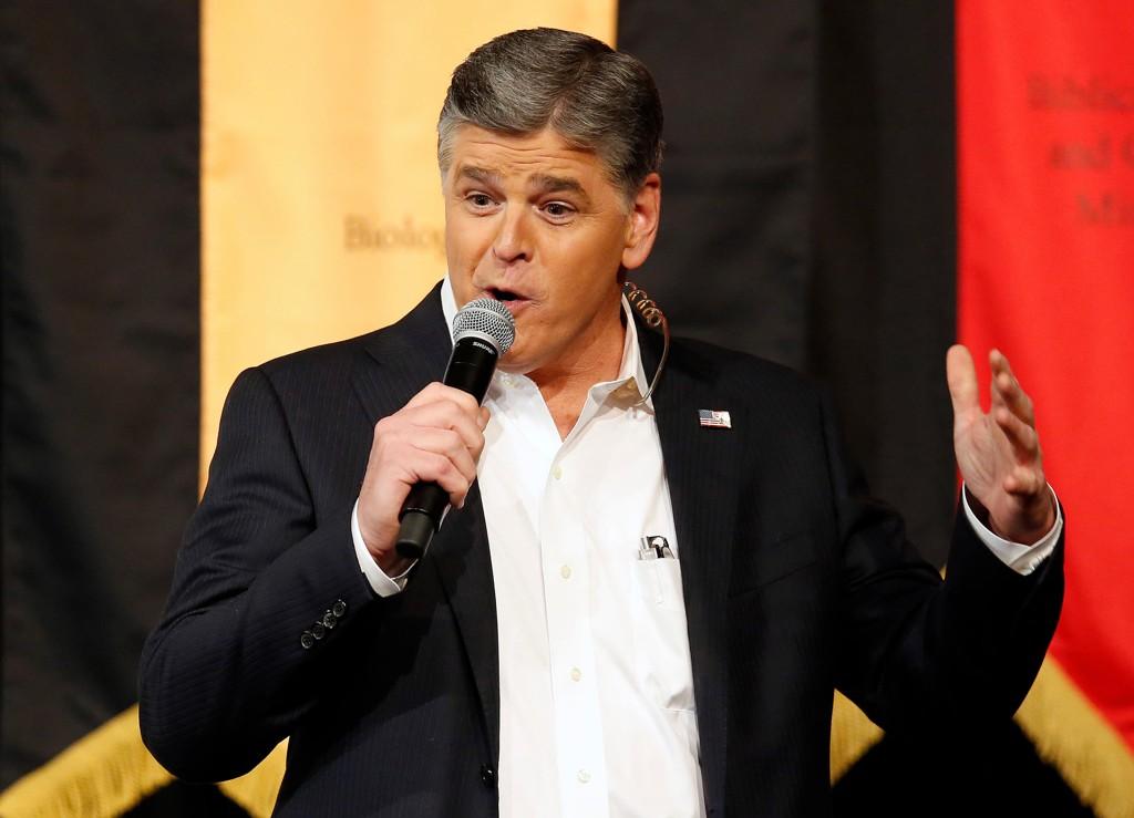 Sean Hannity under et valgkampmøte for republikaneren Ted Cruz i 2016. Foto: AP/NTB scanpix