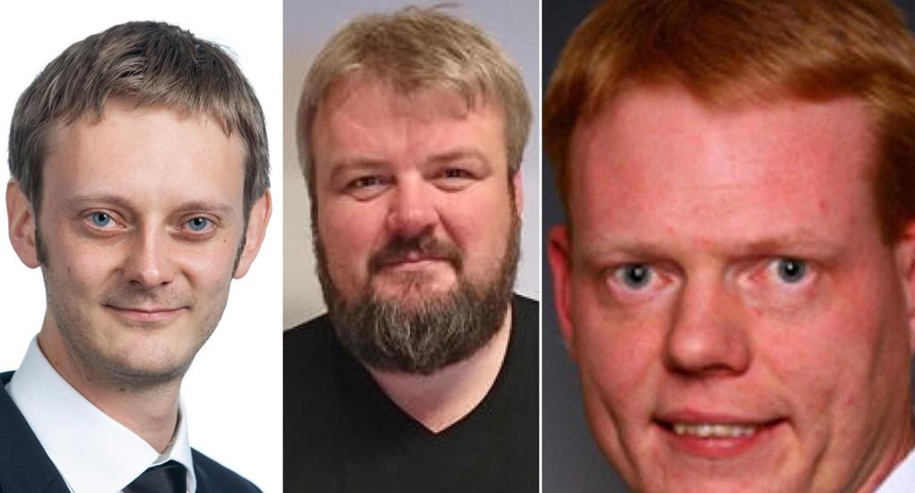 Fra venstre: Erlend Fuglum, Jostein Grande og Rune Hjulstad.