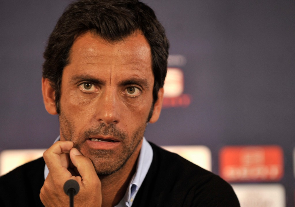 Quique Sánchez Flores har fått sparken som Espanyol-trener. Foto: Nikolas Giakoumidis, AP / NTB scanpix