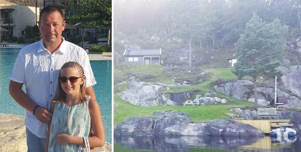 LÅNER UT HYTTA GRATIS: For fjerde året på rad låner Rune Osmundsen og datteren Kristina Dahl Osmundsen (11) ut hytta til familier som trenger et rimelig feriealternativ.