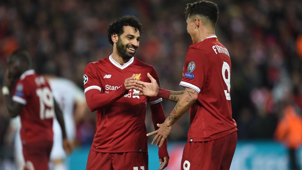 LATTERLIGGJORDE ROMA: Mohamed Salah herjet fullstendig med Roma da Liverpool knuste italienerne på Anfield.