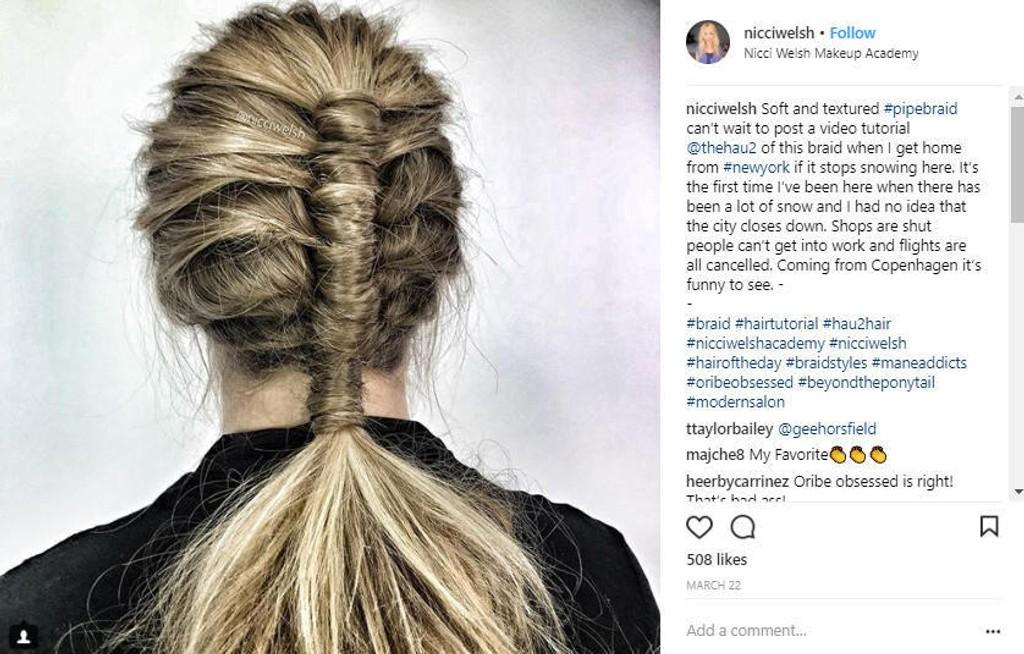 Rørfletten økte kraftig i popularitet etter at hårstylist Nicci Welsh delte en tutorial på Instagram-kontoen sin i mars i år.