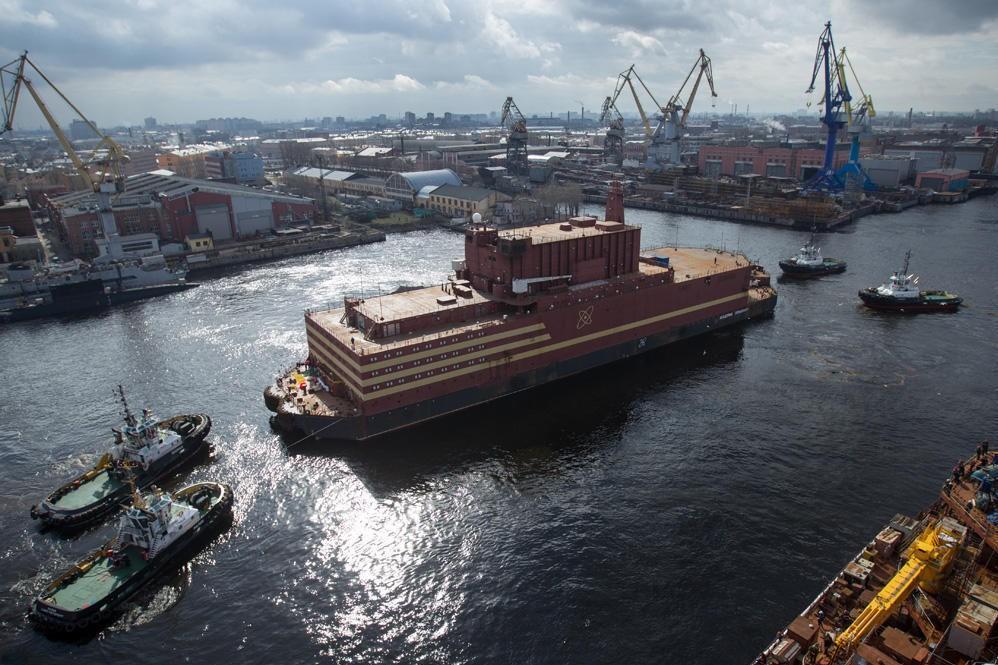 ATOMKRAFTVERK: Her seiler verdens første flytende atomkraftverk fra havna i St. Petersburg