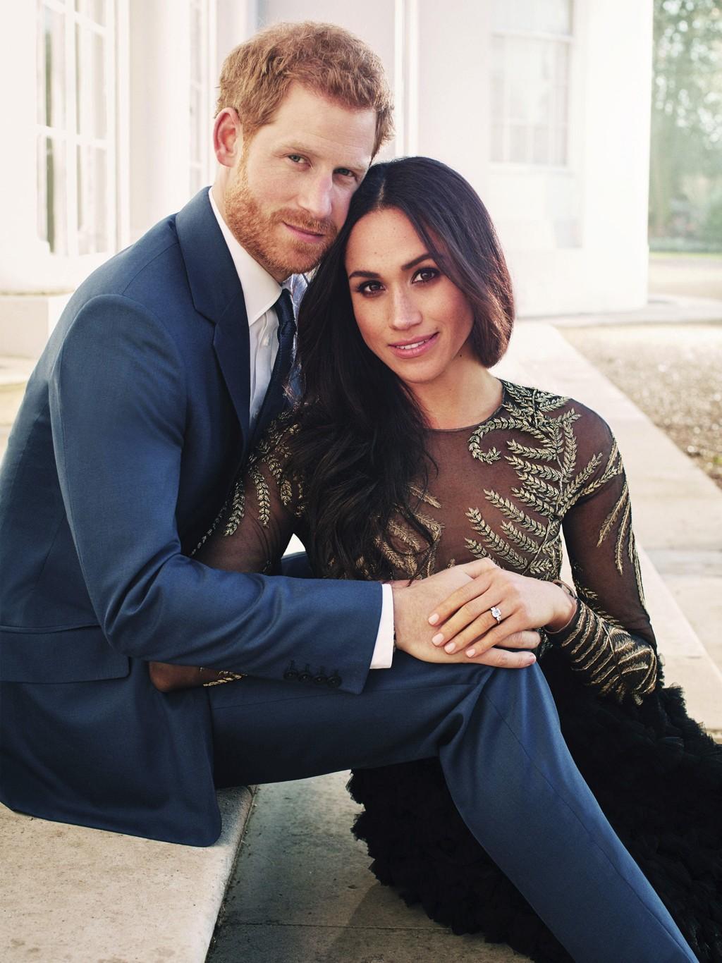 DYRT BRULLUP: Prins Harry og Meghan Markle gifter seg 19. mai i St. George's Chapel i Windsor Castle. Her er paret på et av sine offisielle forlovelsesbilder fra vinteren i år. Bryllupet deres anslås å bli et av de dyreste noensinne.