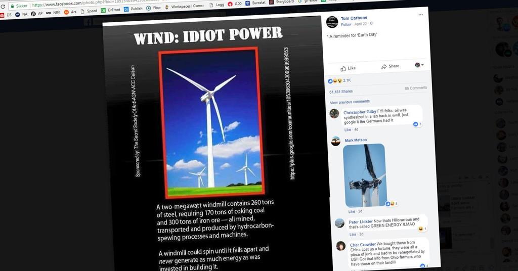 Dette bildet sprer seg i disse dager på Facebook, og formidler et budskap som gjentas mange andre steder på nett.