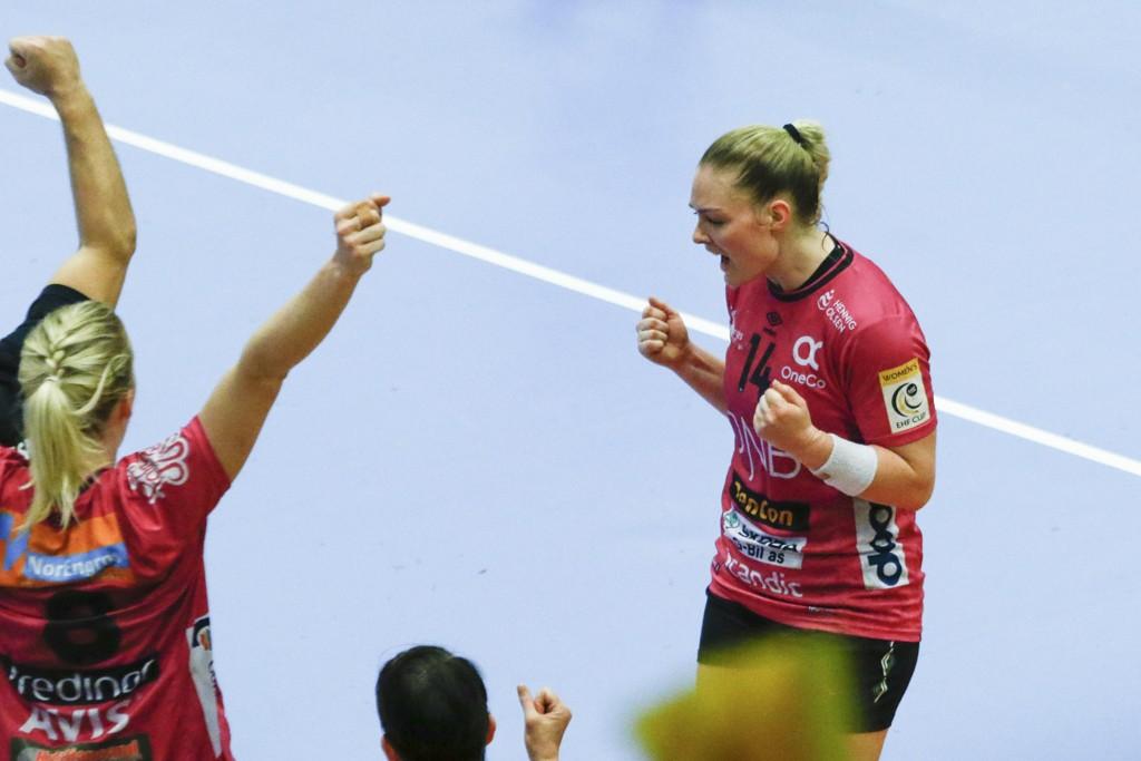 BYTTER BEITE: Pernille Wang Skaug har hatt suksess i Vipers Kristiansand denne sesongen. Her fra en kamp i EHF-cupen.
