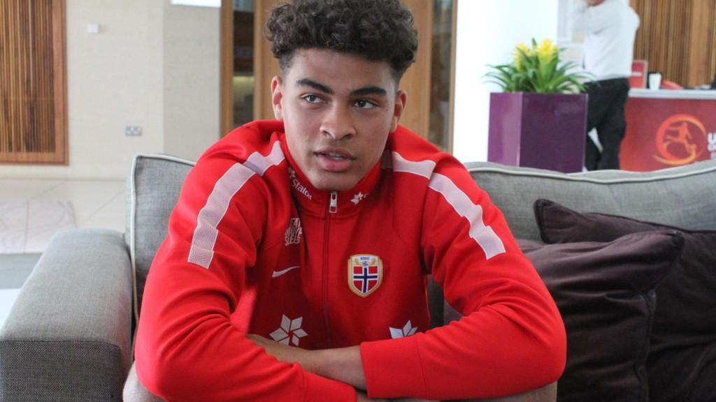 STORTALENT: Noah Emmanuel Jean Holm spås en stor fremtid på fotballbanen. Han har også genene i orden og er sønn av tidligere toppspiss David Nielsen.