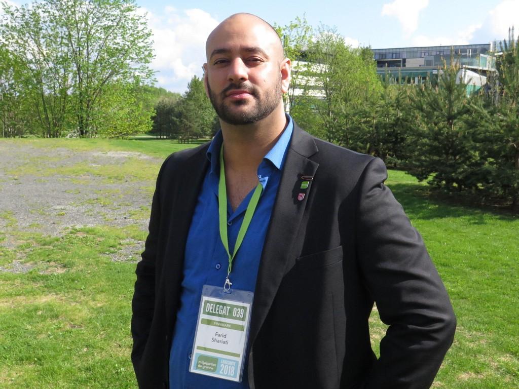 STILLER TIL VALG: Farid Shariati (32) stiller til valg som nasjonal talsperson i Miljøpartiet De Grønne. Hans motstander Arild Hermstad regnes imidlertid som favoritt.