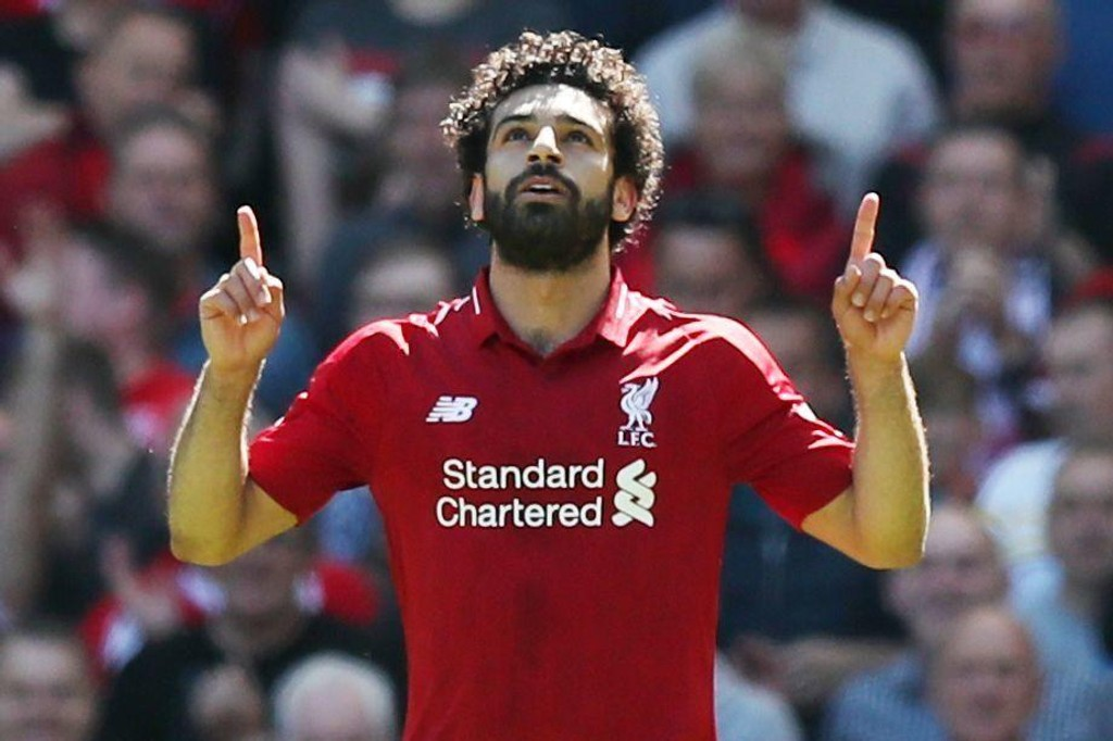 HISTORISK: Mohamed Salah ble historisk med sin 32. ligascoring for sesongen da Liverpool banket Brighton på Premier Leagues avslutningsdag.