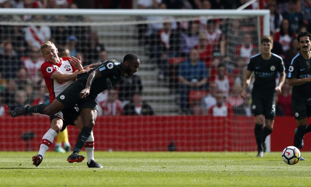 Manchester City kjempet seg til tre poeng i serieavslutningen mot Southampton. Foto: Frank Augstein/AP/NTB scanpix