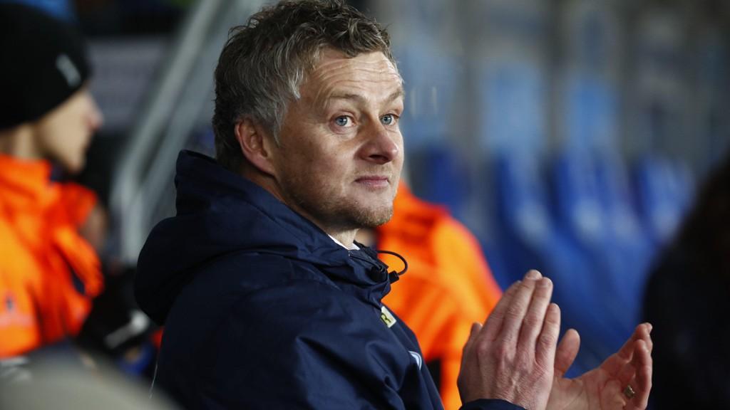 TAUSE: Ole Gunnar Solskjær og Molde stilte ikke til intervjuer med Eurosport etter tapet mot Glimt.