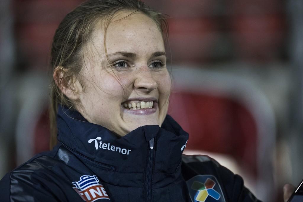 Caroline Graham Hansen og Wolfsburg ble seriemestere søndag. Foto: Berit Roald / NTB scanpix