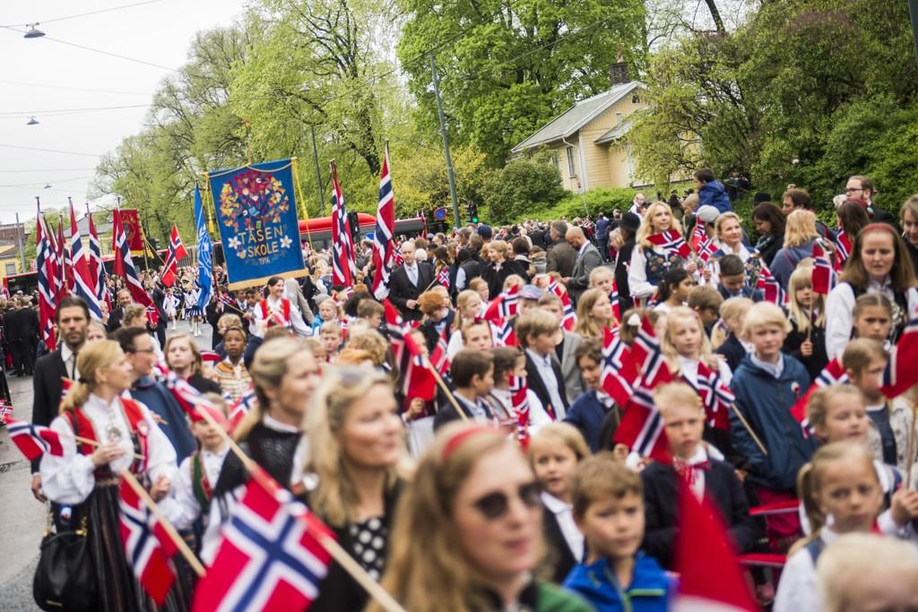 Barnetoget i Oslo sentrum 17. mai i fjor. Slik det skal være.