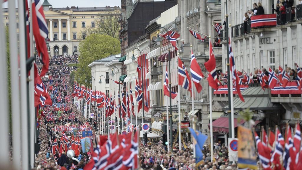 17. mai-feiring i Oslo sentrum i 2017.
