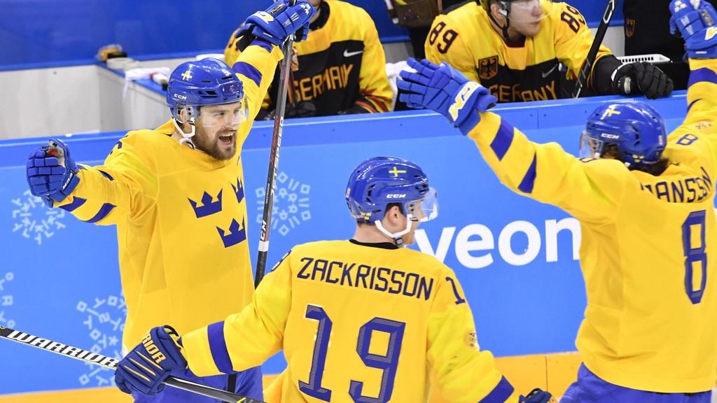 Sverige har vært bunnsolide i årets Hockey-VM. I kveld er de favoritter mot Russland. Foto Jonas Ekströmer / TT kod 10030