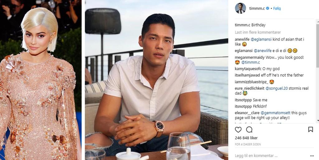Kylie Jenners livvakt Tim Chung slår tilbake mot ryktene om at han er Stormis egentlige pappa.