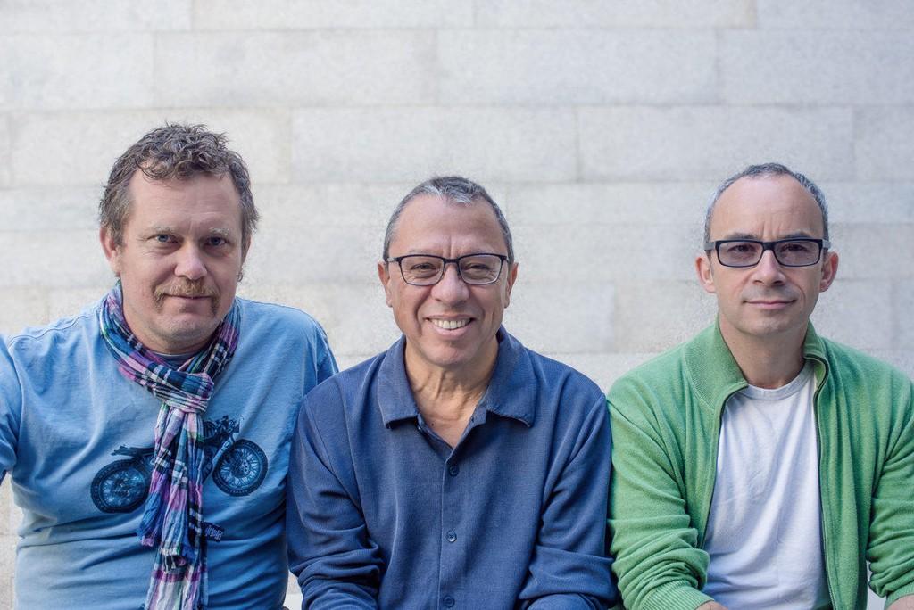 Helge Andreas Norbakken, Mário Laginha og Julian Argüelles - en helt spesiell trio.