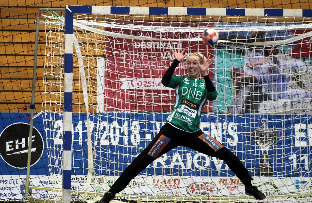 Katrine Lunde og Vipers tok et langt skritt mot sluttspilltriumf tirsdag. Foto: Aleksandar Djorovic / NTB scanpix