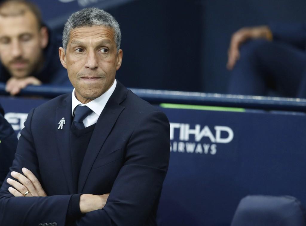 Brighton-manager Chris Hughton fikk ny kontrakt. Foto: Martin Rickett/PA via AP / NTB scanpix