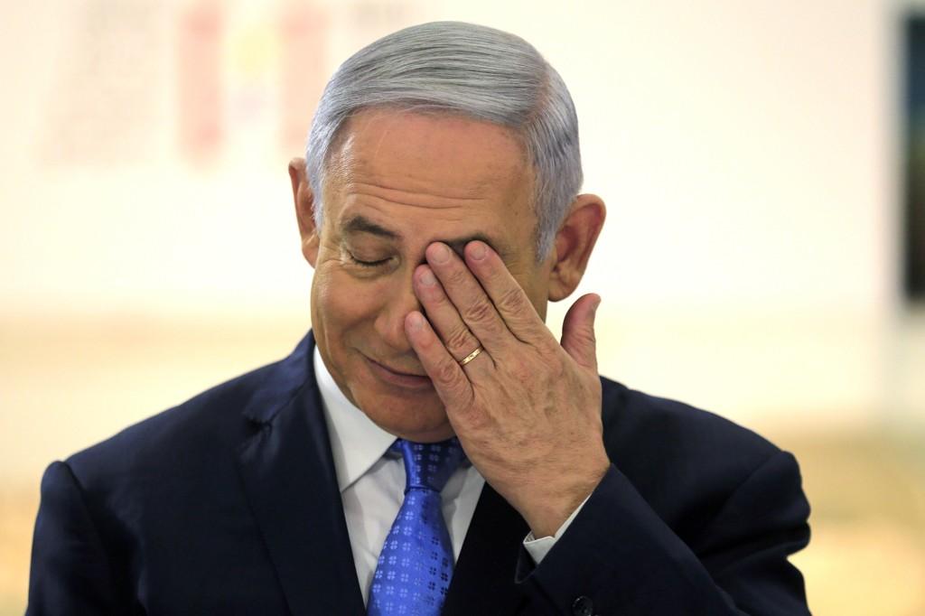 Israels statsminister Benjamin Netanyahu legger skylden for de drepte palestinerne på Hamas. Foto: AP / NTB scanpix