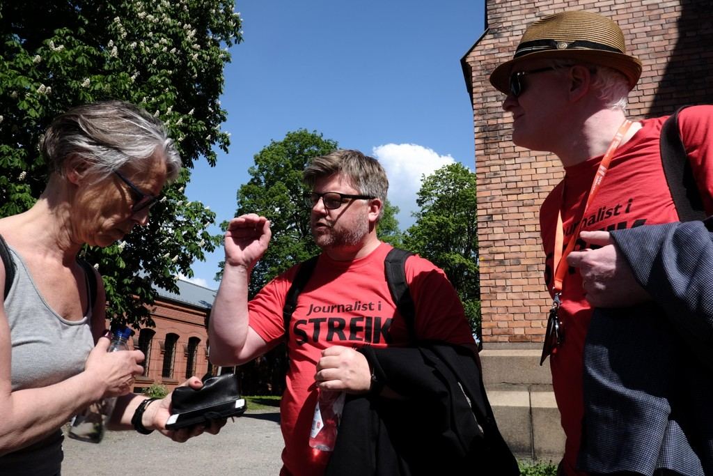 ADVARER: Richard Aune er leder for de streikende NRK-journalistene. Han ber NRK tenke seg om før de gjennomfører den planlagte direktesendingen på 17. mai - tross streiken.