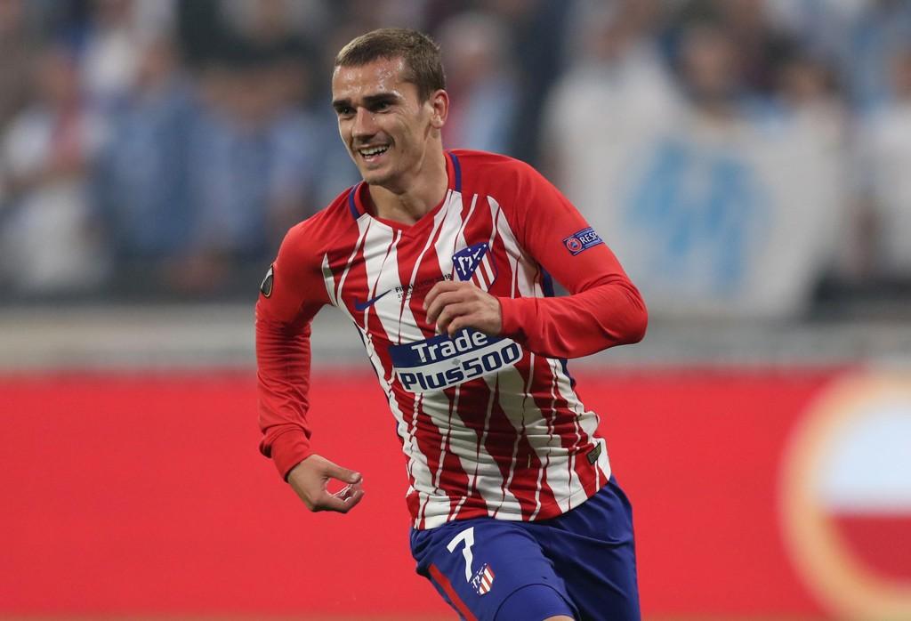 KAMPENS STORE SPILLER: Antoine Greizmann ble den store helten for Atletico Madrid i Europa League-finalen mot Marseille.