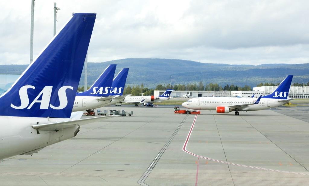 Et SAS-fly kom seg ikke av gårde fra Gardermoen. Illustrasjonsfoto: Gorm Kallestad / NTB scanpix