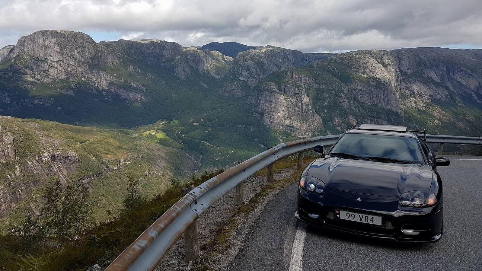 TIL SALGS: Mitsubishis kanskje mest hårete sportsbil, 3000 GT VR4, er til salgs i Norge.