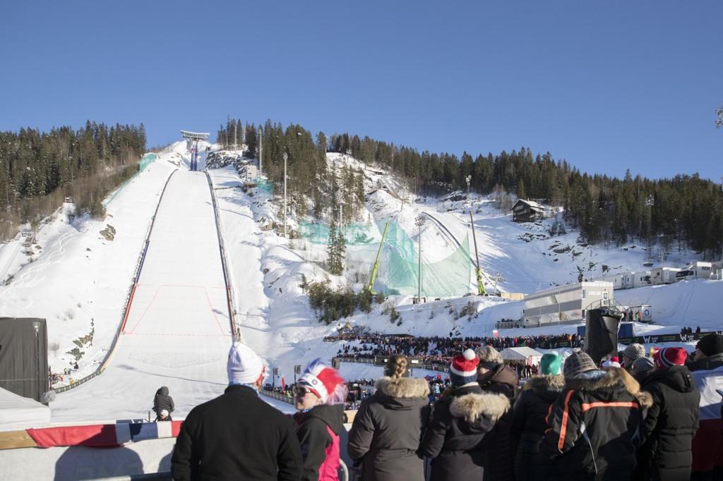 VM I VERDENS STØRSTE BAKKE: Vikersund er i dag verdens største hoppbakke. Nå skal det arrangeres VM her i 2022.