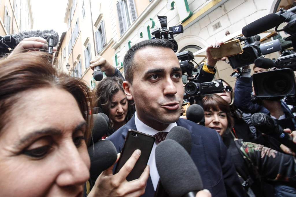 Luigi Di Maio, leder for Femstjernersbevegelsen. Foto: AP / NTB scanpix