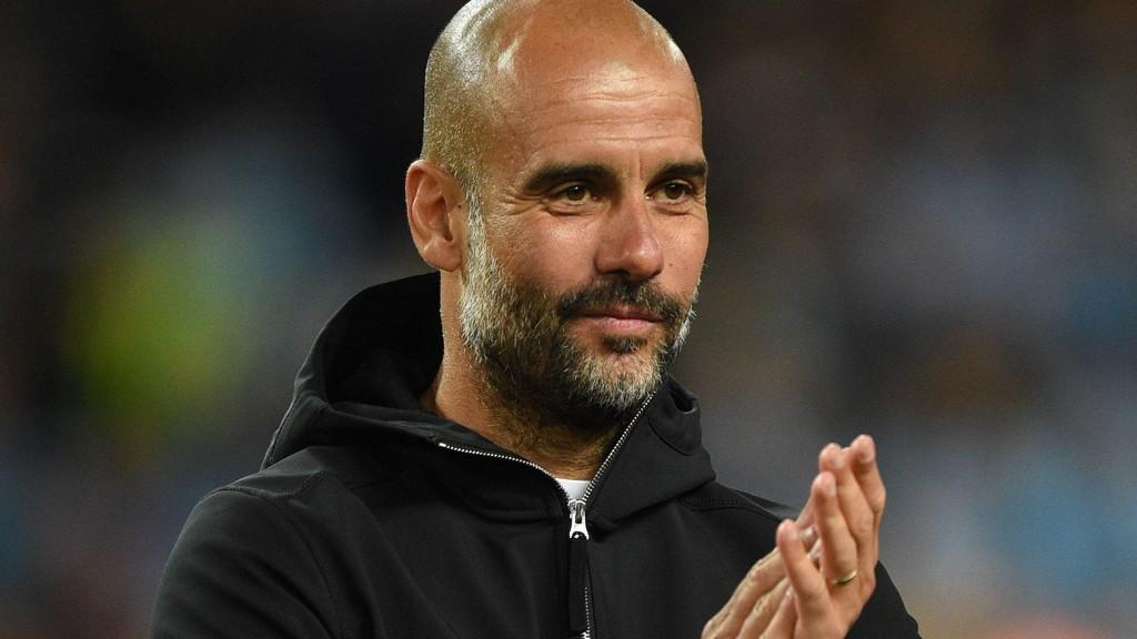 NY KONTRAKT: Pep Guardiola har signert en ny avtale med Manchester City.