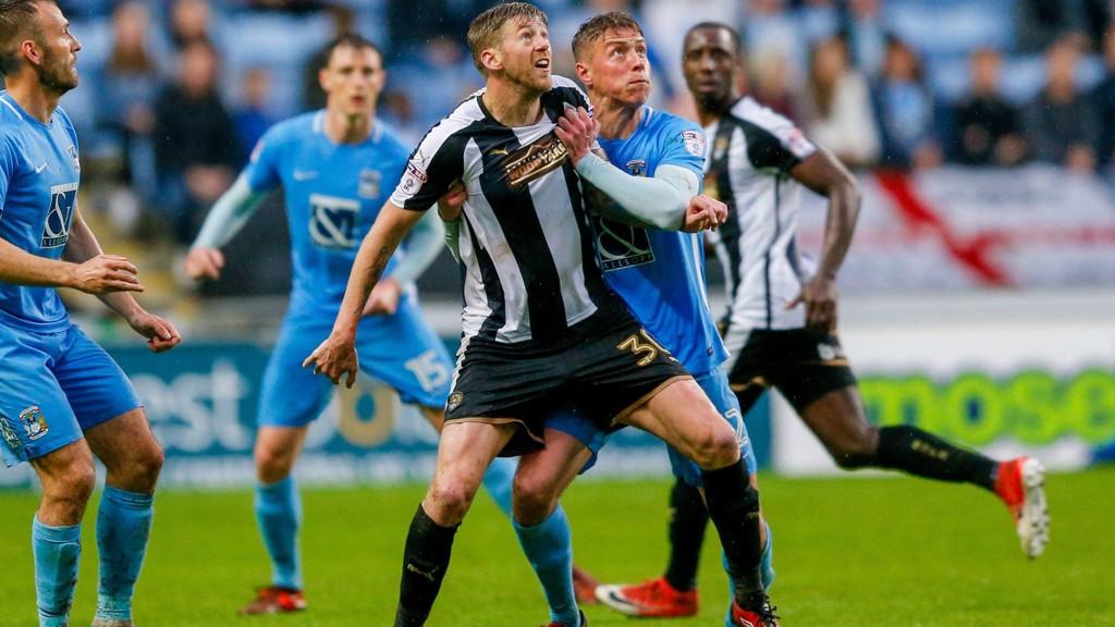 Dette er bilder fra det første playoffmøtet mellom Coventry og Notts County forrige lørdag, en kamp som endte 1-1.