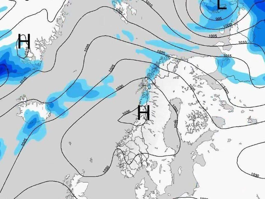 DELER NORGE I TO: Sør-Norge får tørt og fint vær denne uka, mens Nord-Norge får skyer og regn.