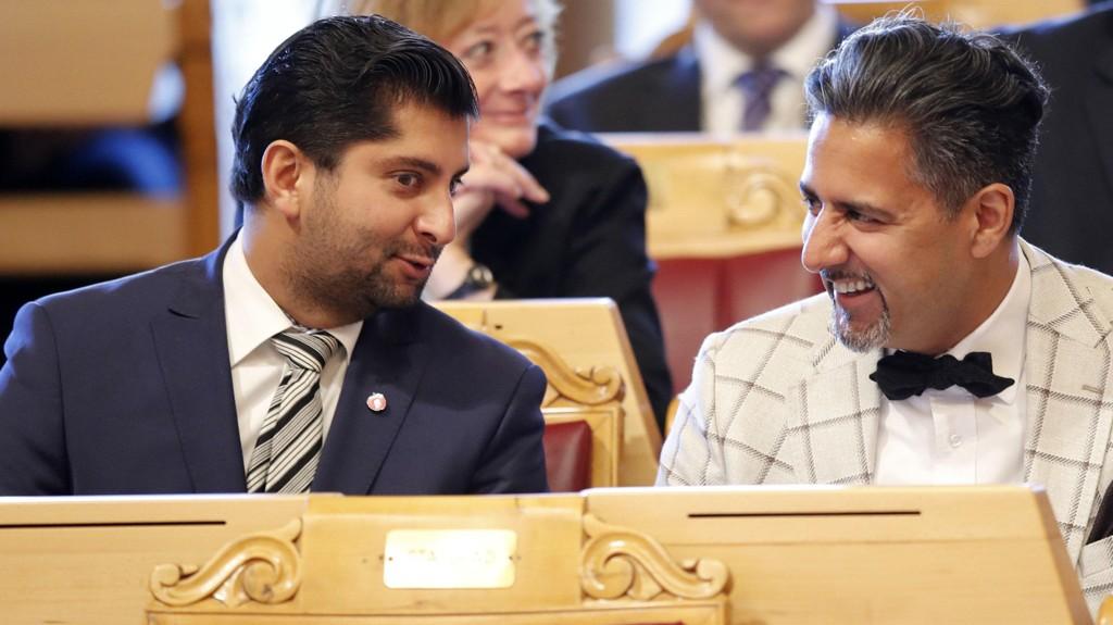 BARN AV INNVANDRERE: Fremskrittspartiets Himanshu Gulati (t.v) og Venstres Abid Raja er barn av henholdsvis indiske og pakistanske innvandrerforeldre. Den ene har gjort det ekstremt godt i forhold til gjennomsnittet av sin innvandrergruppe.