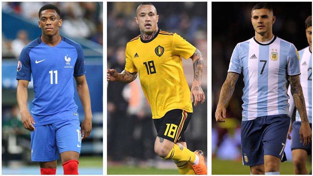 DROPPET: Anthony Martial, Radja Nainggolan og Mauro Icardi må alle se VM hjemmefra.