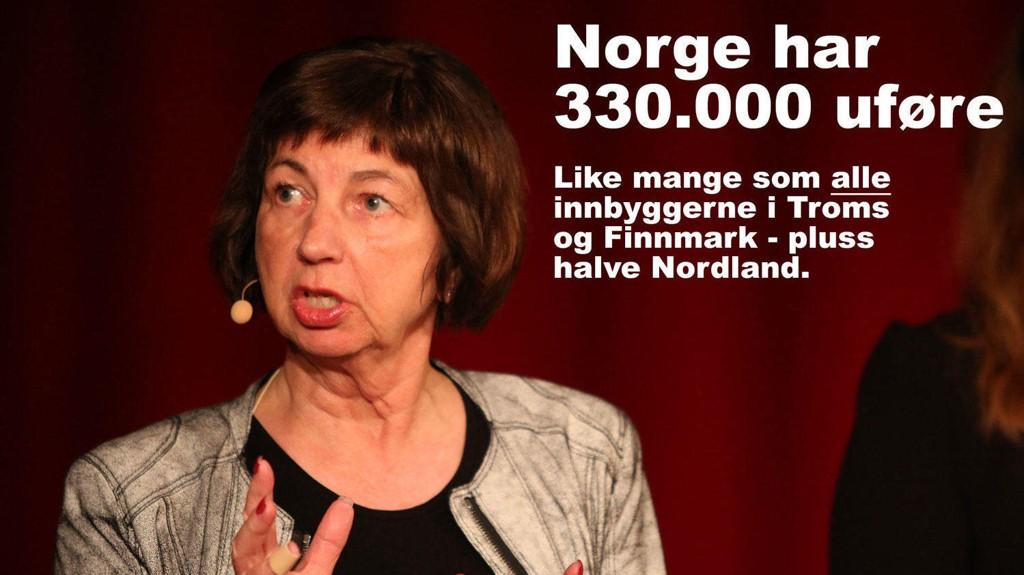 ENORME UTBETALINGER: NAV deler ut nær 90 milliarder kroner i året i uføretrygd. NAV-direktør Sigrun Vågeng må se store forskjeller fra kommune til kommune.
