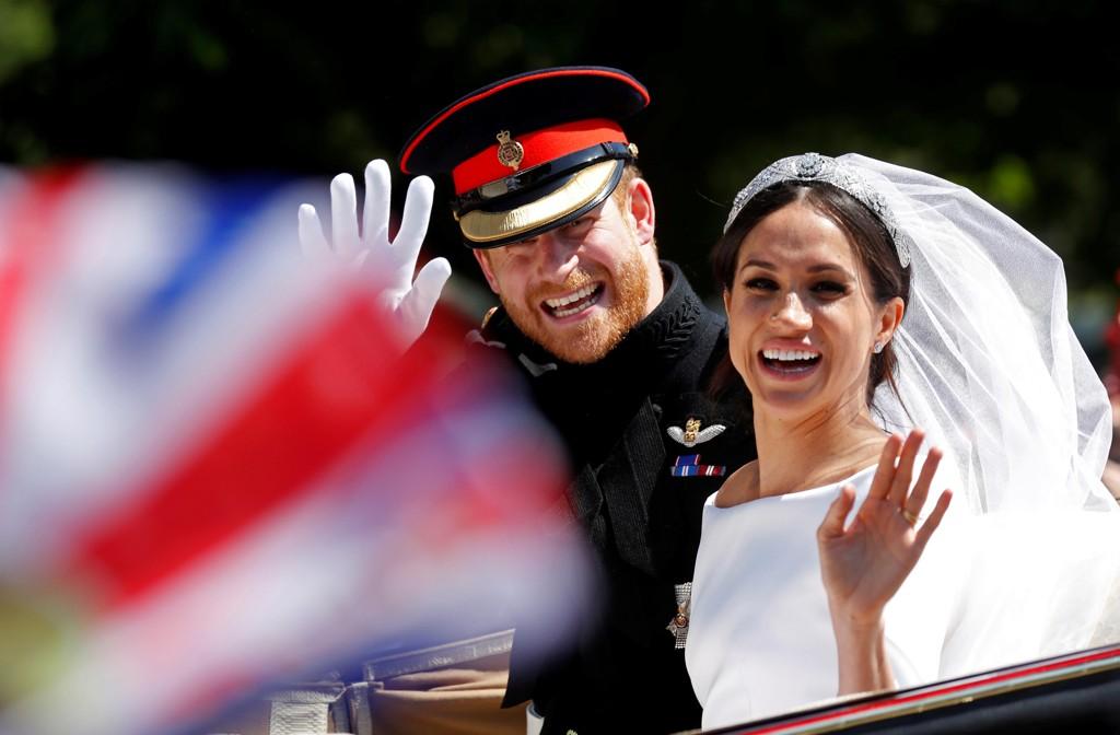 NYGIFTE: Harry og Meghan giftet seg lørdag 19. mai i St. George's Chapel i Windsor.