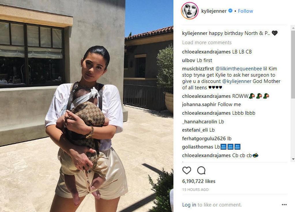 EKSKLUSIV BÆRESELE: Mange brukere på Instagram fikk nok hakeslepp da Kylie Jenner flashet den nye bæreselen til datteren Stormi.