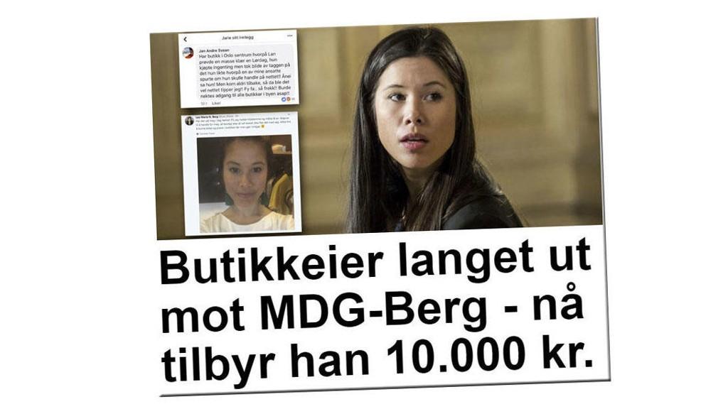 I BUTIKKEN: Miljøpartiet De Grønnes byråd Lan Marie Nguyen Berg gikk i butikken, men ble beskyldt for å handle på nett. Nå har butikkeieren beklaget utspillet.
