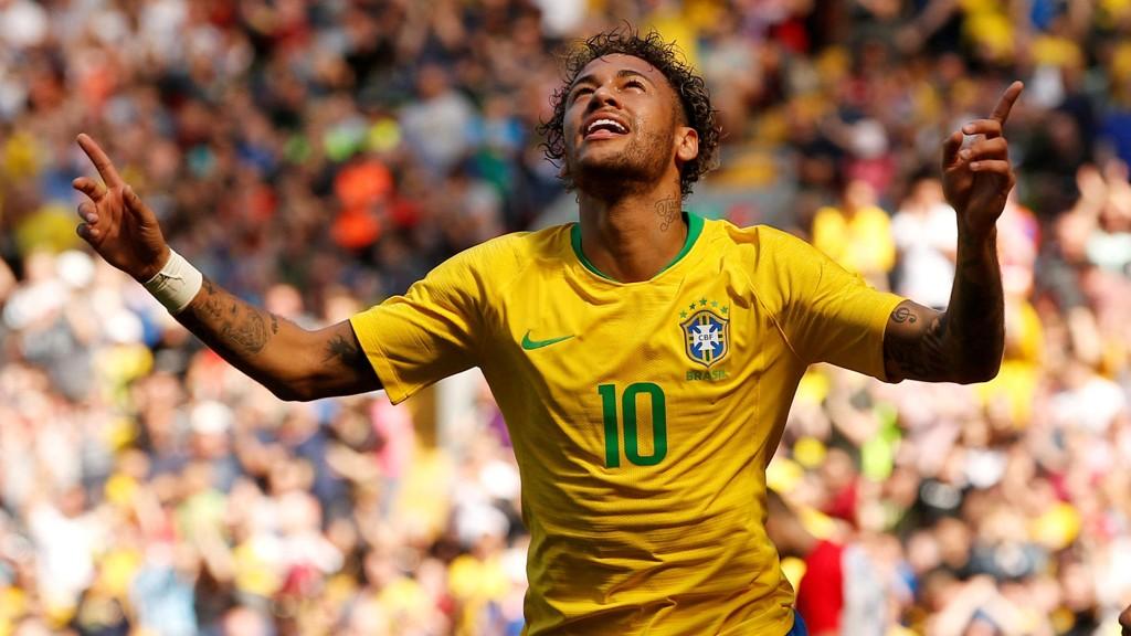 JAKTER VM-GULL: Neymar og Brasil jakter landets sjette VM-tittel i Russland.