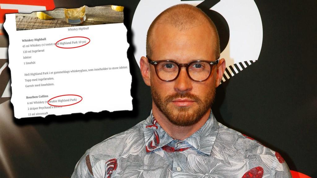 FIKK BETALT: Bloggeren og stylisten Storm Pedersen fikk betalt da han skulle skrive en guide til hvordan drikke whisky.