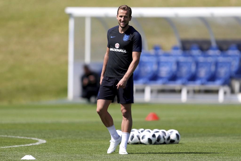 Englands VM-kaptein Harry Kane har tro på engelsk suksess under VM i Russland. Foto: David Davies/PA via AP/NTB scanpix.