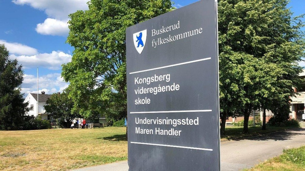 TRUSSEL: Politiet aksjonerte mot Kongsberg videregående skole, avdeling Maren Handler og pågrep én elev som skal ha fremsatt trusler om skoleskyting på Instagram.