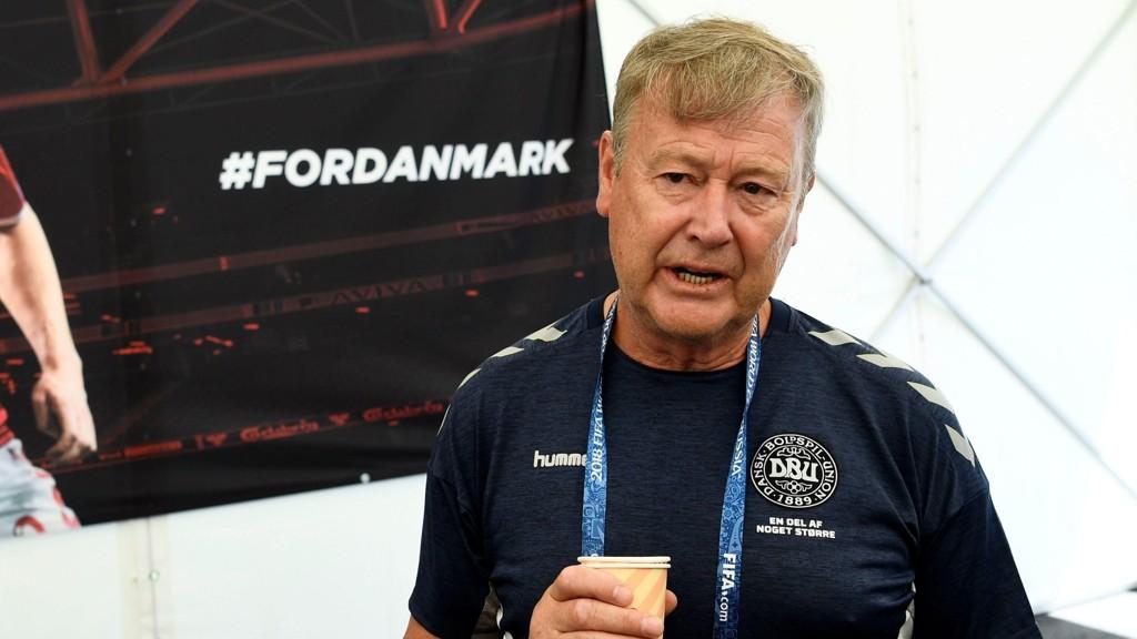 FOKUSERER PÅ TRENING: Åge Hareide skal ha fullt fokus på det danske landslagets treninger de neste dagene.