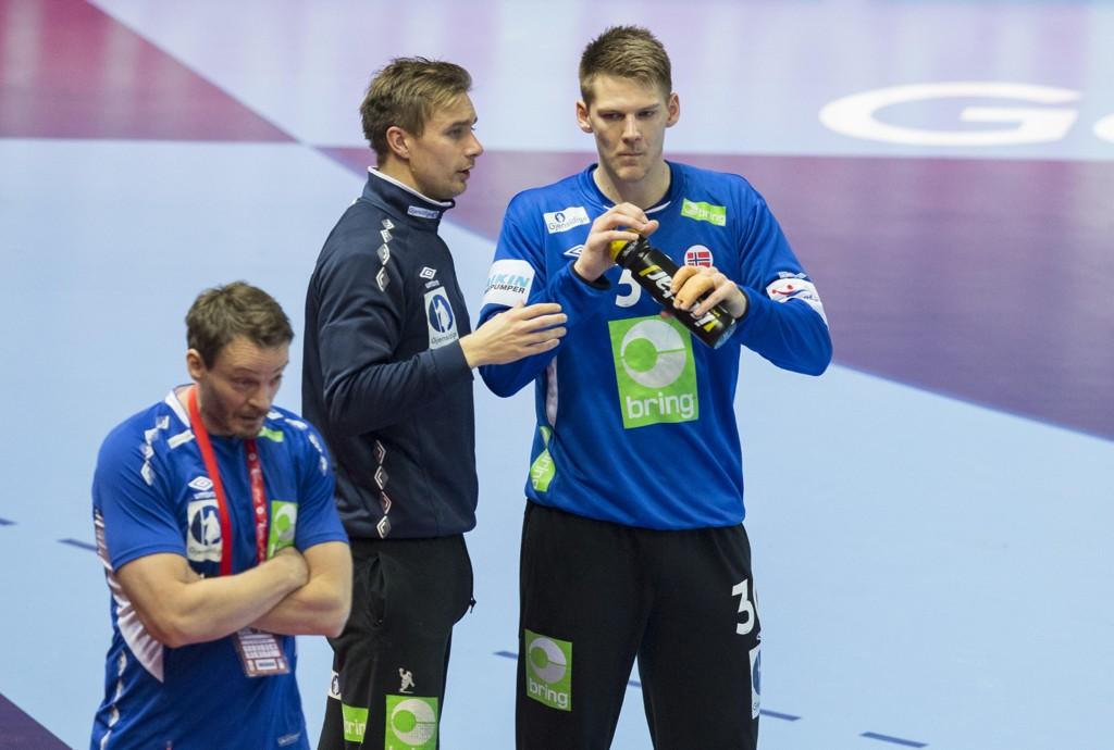 Målvaktene Espen Christensen og Torbjørn Bergerud var meget gode mot Sveits tirsdag. Foto: Vidar Ruud / NTB scanpix
