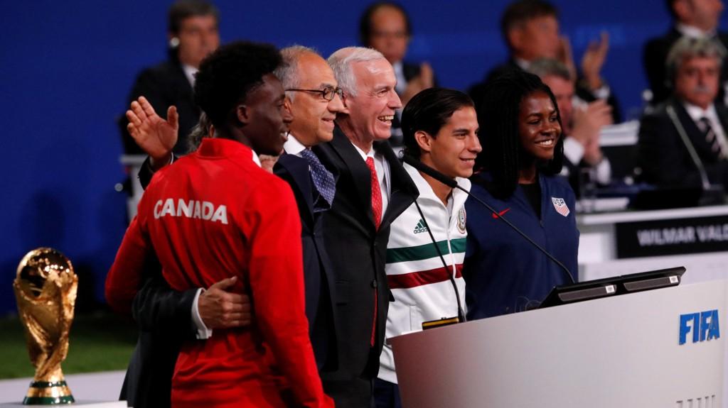 VM I 2026: Canada, Mexico og USA arrangerer VM i 2026.