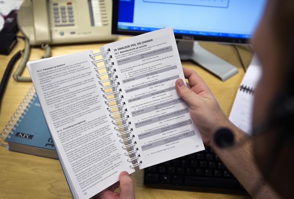 Nynorsk kan skape hodebry for enkelte, og nå ber Universitetet i Agder departementet om å se på regelverket. Foto: Gorm Kallestad / NTB scanpix