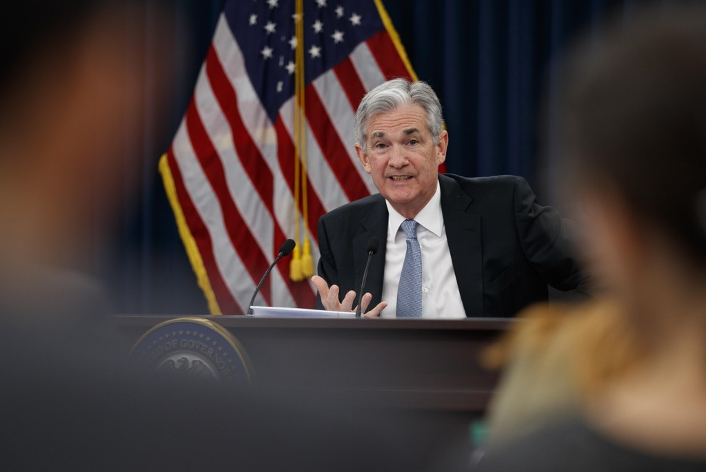 Sentralbanksjef Jerome Powell øker styringsrenten i USA. Foto: AP / NTB scanpix