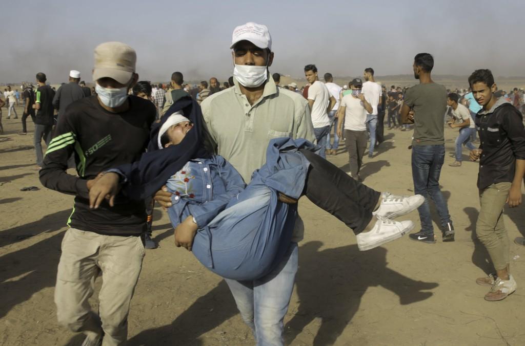 130 palestinske demonstranter er drept og tusenvis er skutt og såret av israelske soldater på Gazastripen de siste ukene. Foto: AP / NTB scanpix
