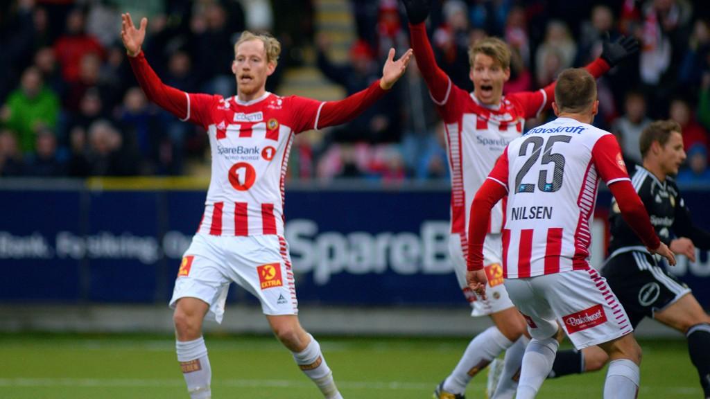 Gjermund Åsen (til venstre) har vært en viktig spiller for Tromsø denne sesongen.